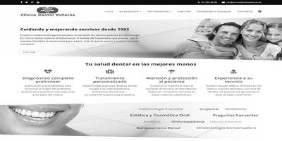 Clínica Dental Vallecas. Nuevo proyecto web