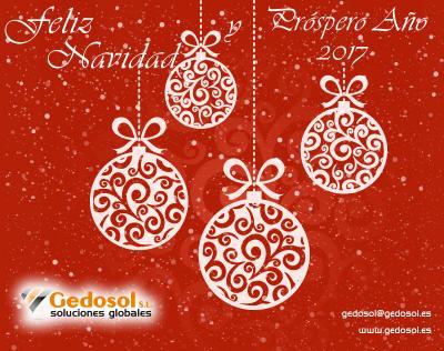 El equipo de Gedosol les desea unas Felices Fiestas